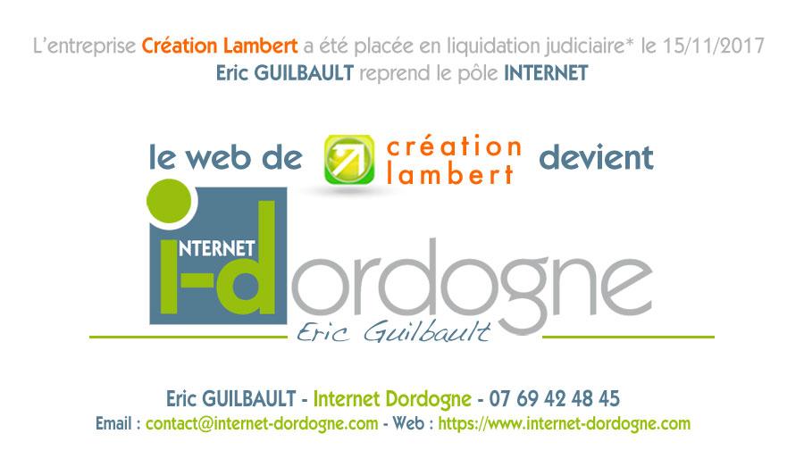 Création Lambert devient Internet Dordogne